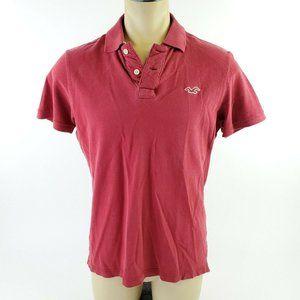 Hollister Red Short Sleeve Basic Polo Summer